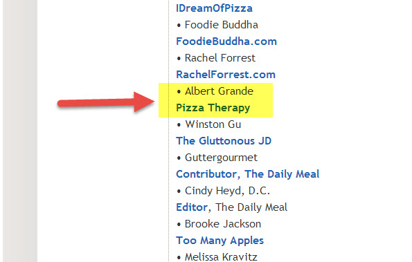 Albert Grand panelist for best pizza in America