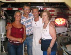 Ruth, Rick, Bobby and Flo Consiglio, a pizza family at Sally's Apizza.