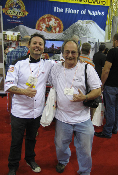 Tony Gemignani and Albert Grande at the Pizza Expo