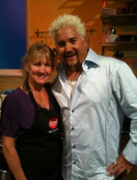 Gail C. and Guy Fieri at pizzatherapy.com