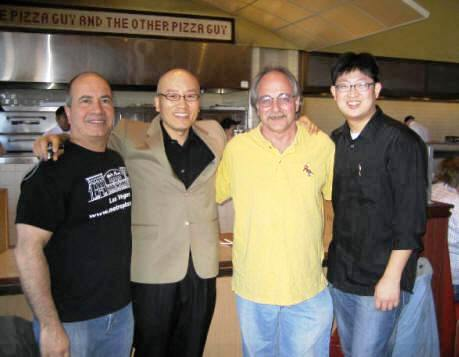 John Arena, James, Albert Grande and Chef Kim at Metro from pizzatherapy.com