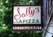 Sally's Apizza Sign on Wooster Street, New Haven