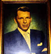 Frank Sinatra's autographed portrait at Sally's Apizza!