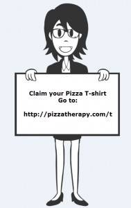 Pizza Therapy T-shirts!