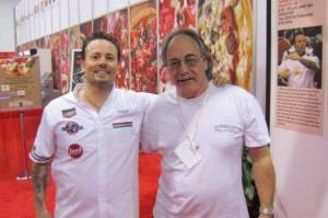 Tony Gemignani and Albert Grande at Pizza Expo