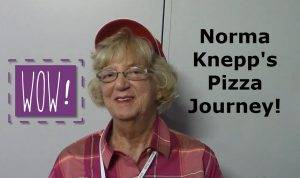Norma Knepp at Pizza Expo
