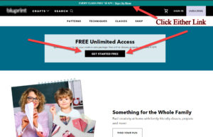 Step 1 Click on Free Unlimited Access
