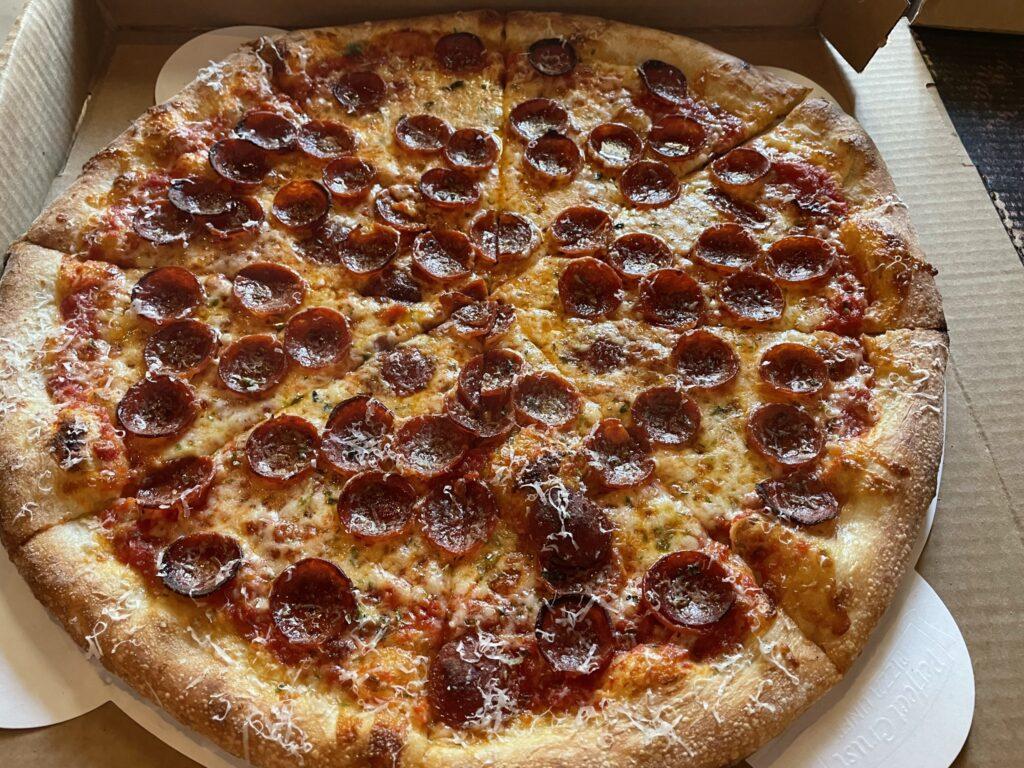 Pepperoni Pizza at Pizza Mamo